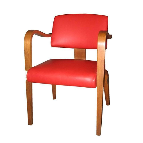 4 Thonet Arm chairs in red pleather