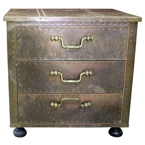 Brass Estate Chest Of Drawers by Sarried