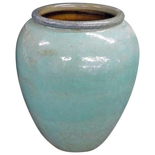 Monumental Terracotta Urn in a Turquoise Glaze