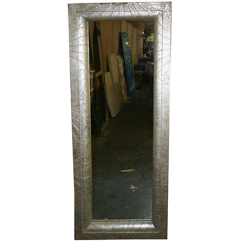 Botanical inspired sliver -leafed full size mirror