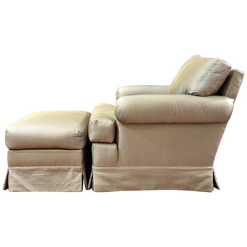 Elegant and Very Comfortable Club Chair and Ottoman