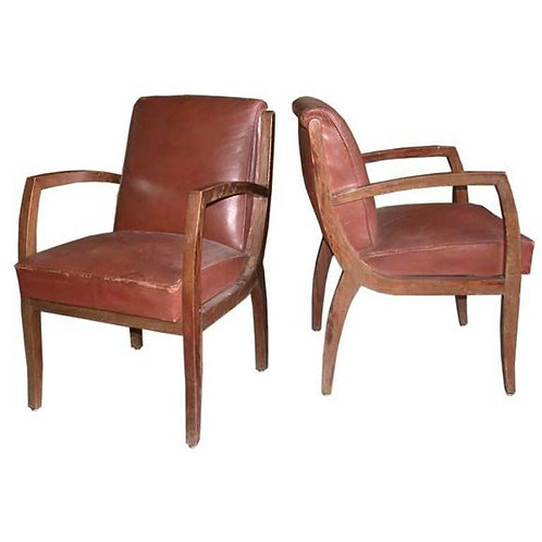 Four Bridge Chairs Attributed to René Prou