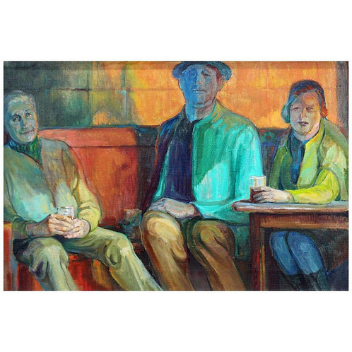 """Interrupted Conversation"" Oil on Canvas by Robert Frankenberg"