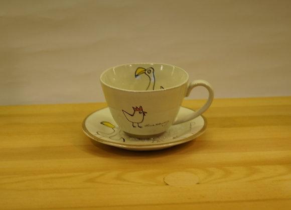 陶瓷茶杯套裝(鳥)