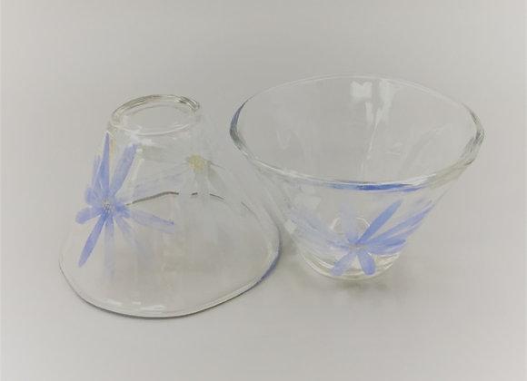 藍菊小玻璃碗