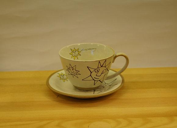 陶瓷茶杯套裝(太陽)