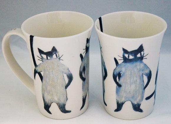貓貓瓷器杯 (灰貓)