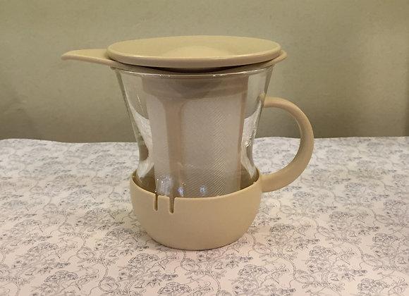 玻璃茶杯(米白)