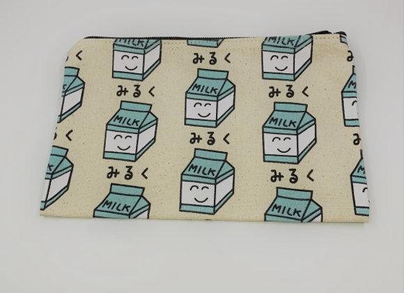 拉鍊布袋(牛奶)