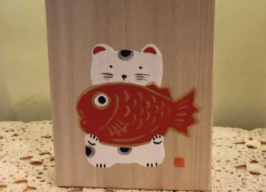 招財貓木盒