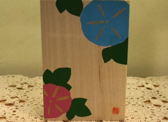 牽牛花木盒