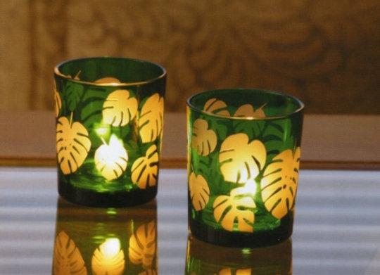 大葉蠟燭杯