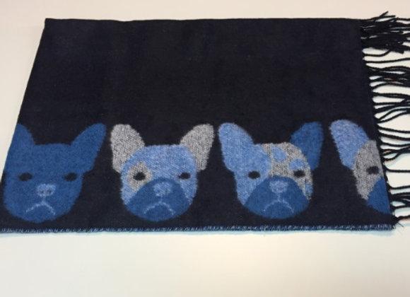 圍巾Scarf (Dog - Blue)