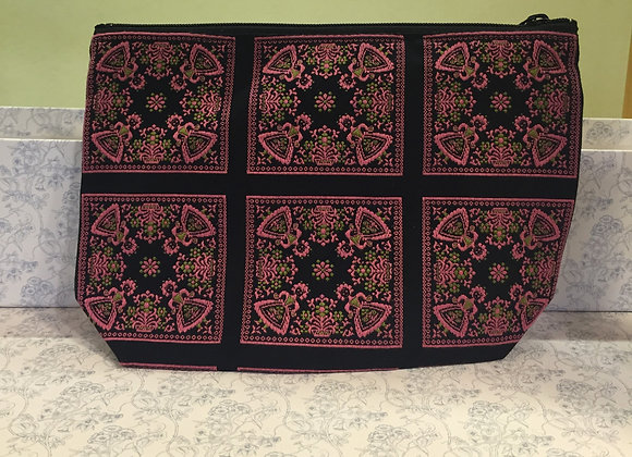 織花布袋(紫紅色)