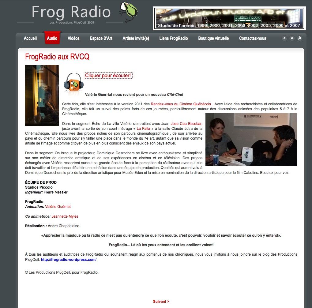 Juan-José à Frog Radio | 2012