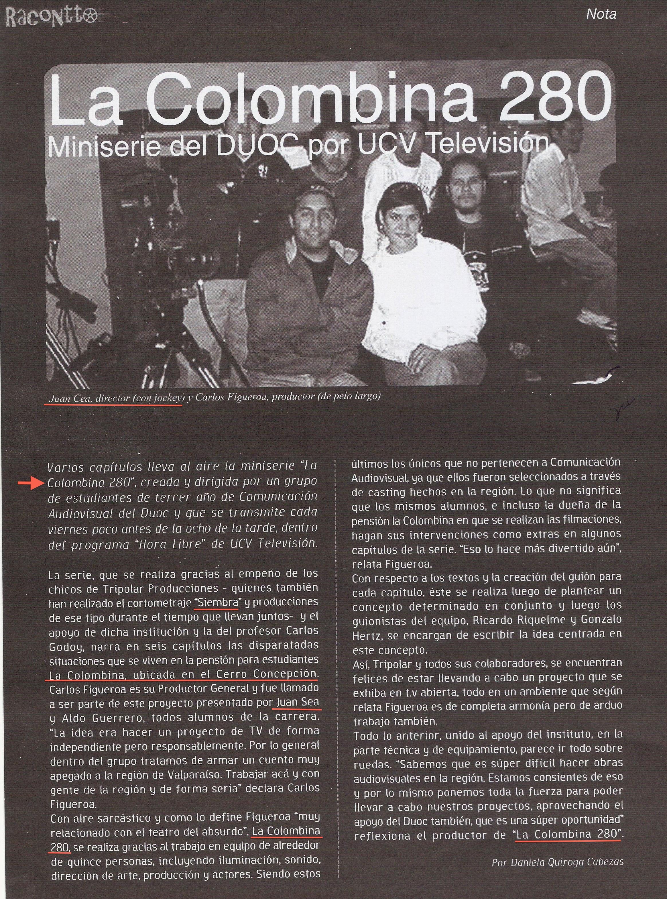"REVUE ""RACONTTO""  | Août 2004"