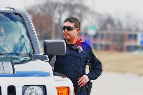 Patrol officer with Body Worn Light