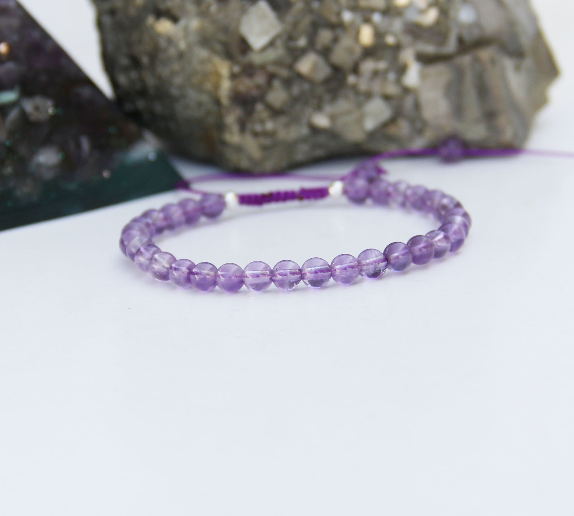 amethyst 4mm bracelet