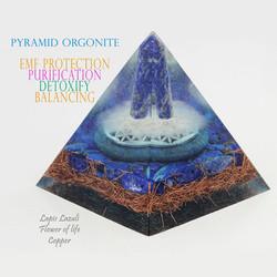 pyramid orgonite lapis lazuli