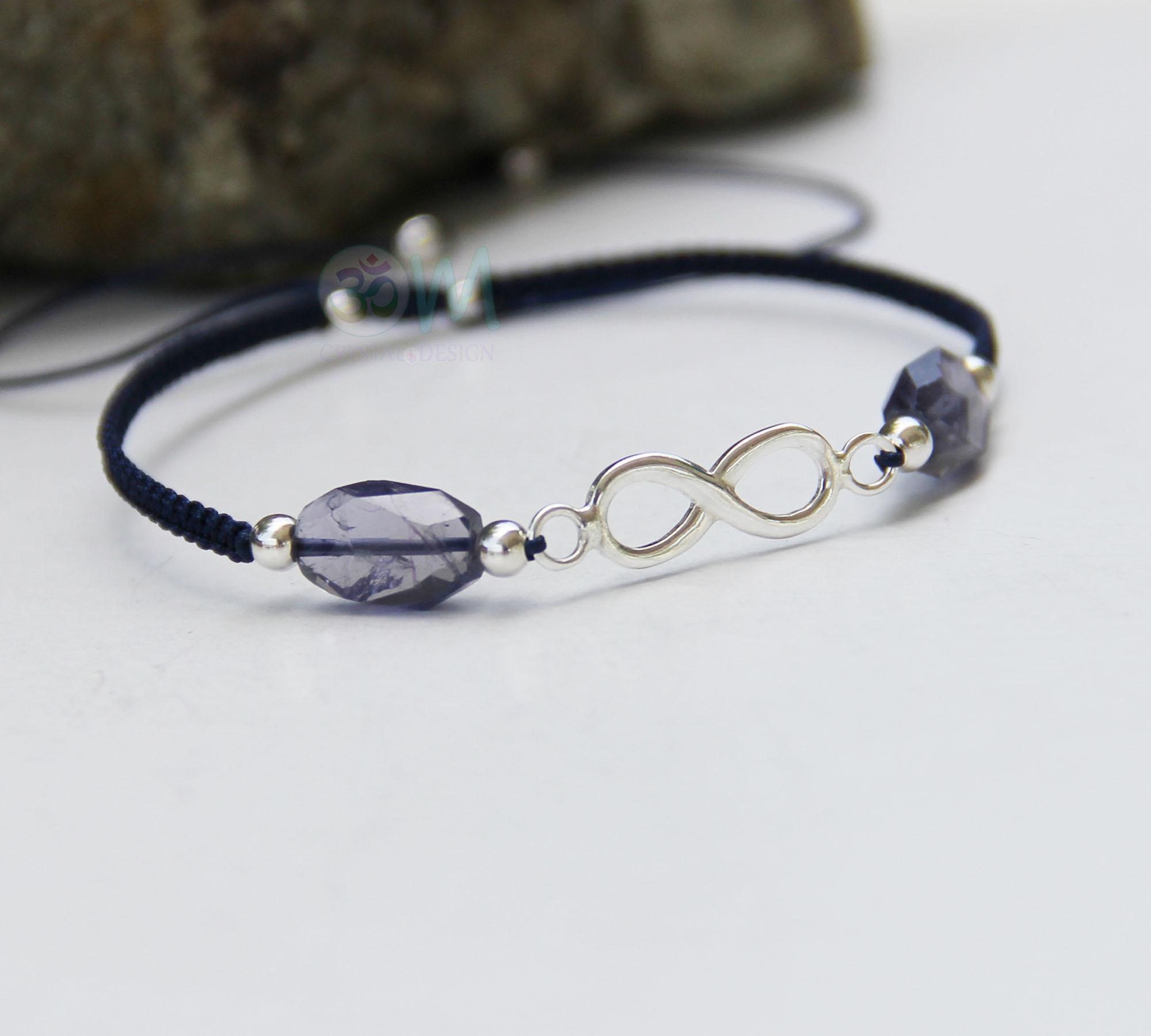 iolite infinity charm bracelet