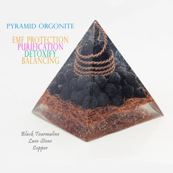 pyramid orgonite black tourmaline