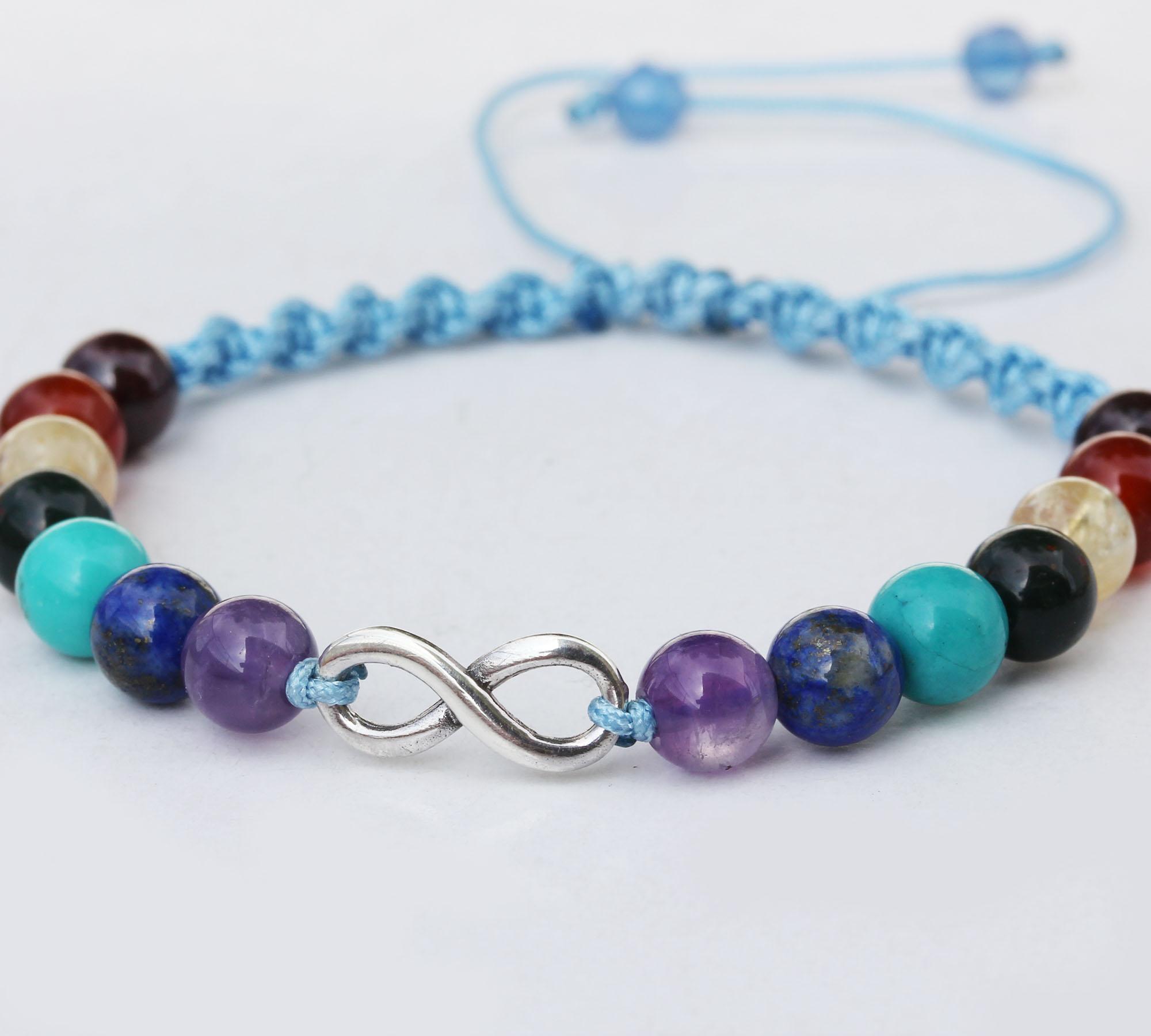 7 chakra with infinity bracelet