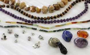 natural stone bead and finding