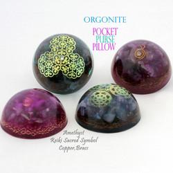 orgonite pocket with amethyst