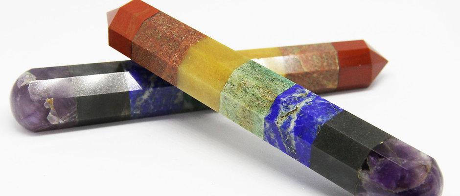 7 Chakra Crystal Wands, Obelisk Energy Generator Tools, Crystal Healing Tool