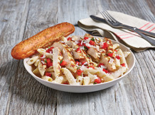 Three Cheese Chicken Penne With Breads