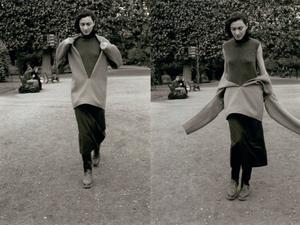 AW1998 Martin Margiela for Hermes cashmere pullover vareuse jacket