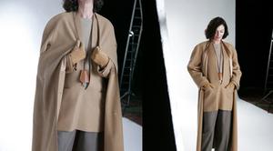 aw98 Martin Margiela for Hermes camel cashmere vareuse pullover jacket styled