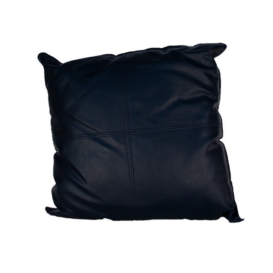 Cushion Navy Blue Leather