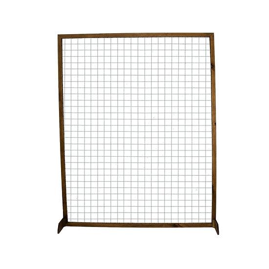White Mesh Screen w/ Timber Frame