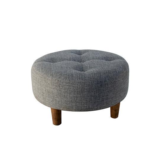 Ottoman Grey Round Small