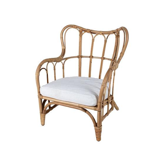 Chair Cane w/ White cushion