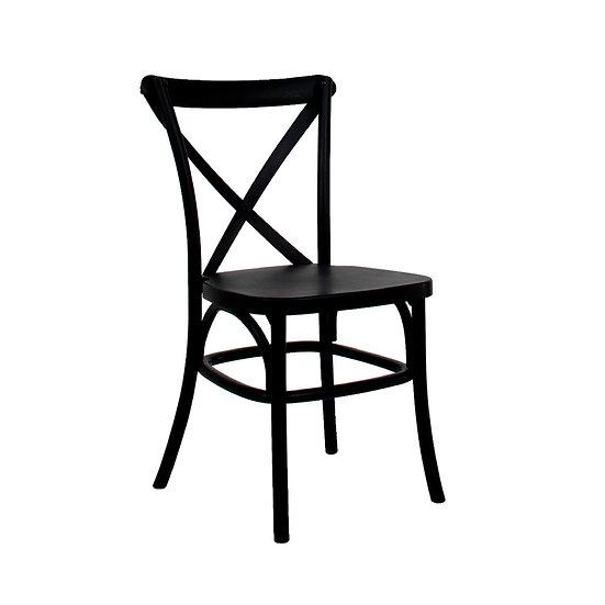 Chair Black Resin Cross Back