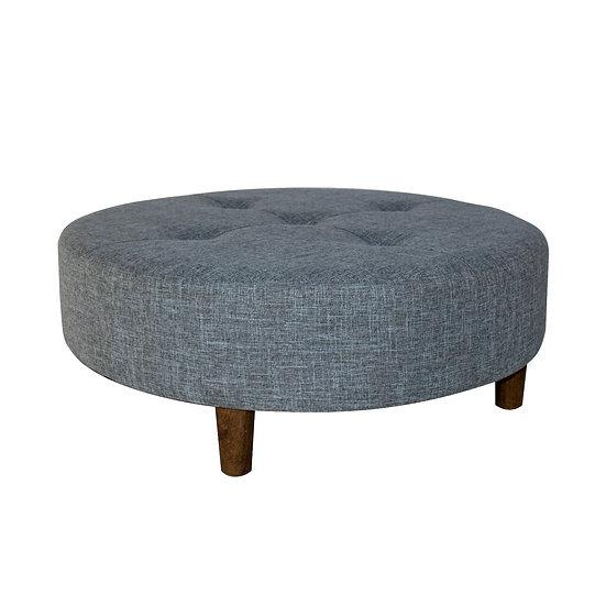 Ottoman Grey Round Medium