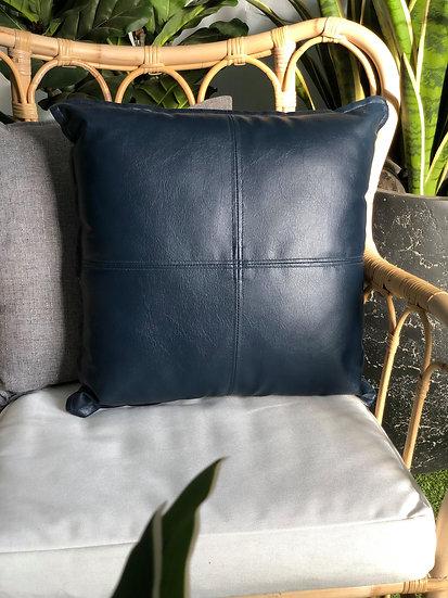 Cushion Navy Blue Leather