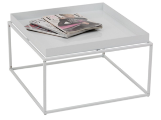 Coffee Table White Wire Square Large