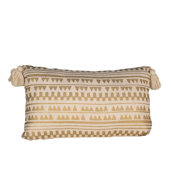 Cushion Gold Aztec Rectangle