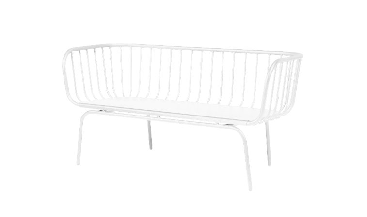 Lounge Outdoor White 2 Seater Wire
