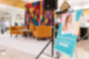 Brand Activations, Backdrop Hire, Rubber Stripping Backrop, Colourful Backdrop