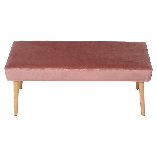 Ottoman Pink Blush Velvet Rectangle