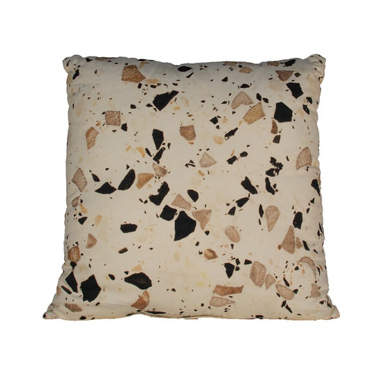 Cushion Black & Gold Speckled