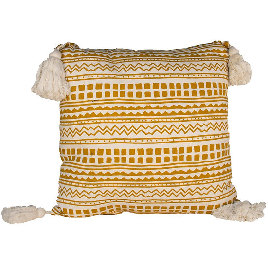 Cushion Yellow Aztec