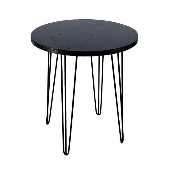 Cafe Table Black Round w/ Black Hair Pin Legs