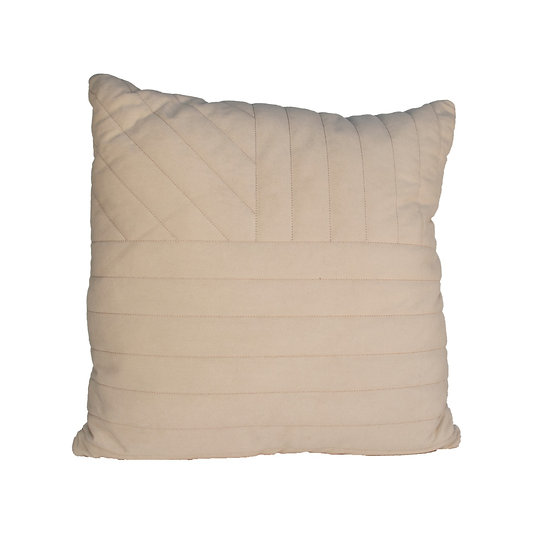 Cushion Beige Stitching