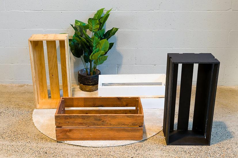 Timber Display Crate Black