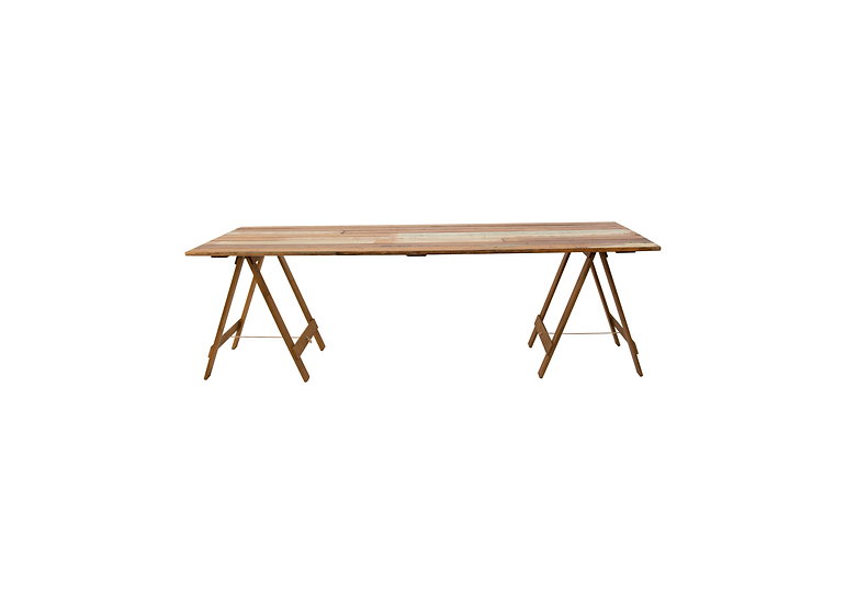 Dining Table Timber 2.4m L w/ Trestle Legs